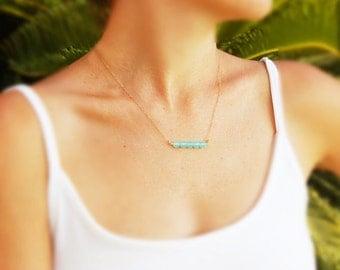 Gold necklace, Aqua chalcedony necklace, bridesmaid necklace, silver necklace, bridal jewelry, Wedding, aqua necklace, light blue