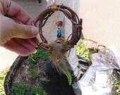 Jasper Zuni Bear Dream Catcher Ornament  (dr056)
