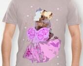 "Dachshund (Dog) Graphic Print Organic Fine Jersey T-Shirt, Tee Shirt - ""A Dream is a Wish Your Heart Makes"" -Cinderella"