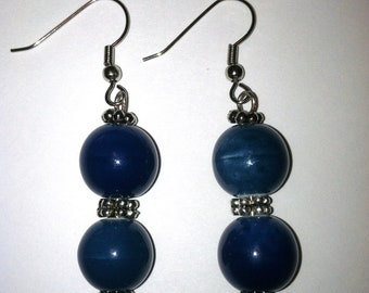 Blue Mixed Dye Agate earrings