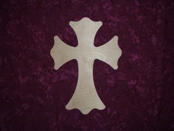 Unfinished Wood Cross Wood Crosses Part C11-129 Cross 8 x 11 inch