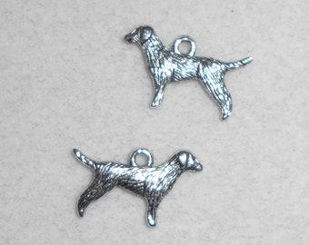 Silver Dog Labrador Charms