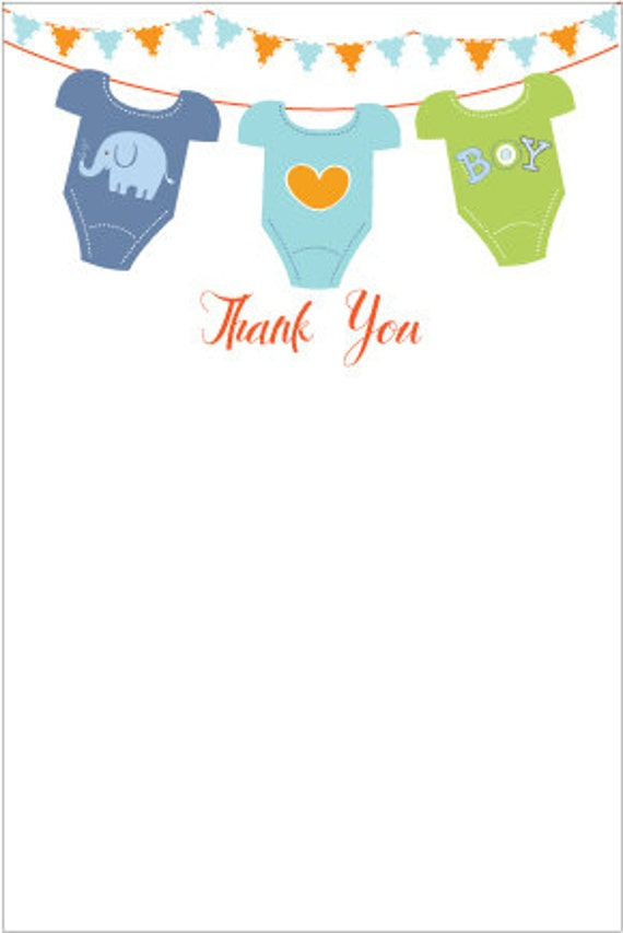 It's just a photo of Accomplished Printable Baby Shower Thank You Cards