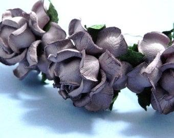 Dusty Purple Rose Hair Pins Flower Bridal Accessory Floral Wedding Set of Four