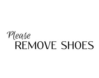 Remove Shoes Decal Etsy - Custom vinyl wall decals   how to remove
