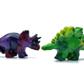 Recycled JUMBO Dinosaur Crayons - Set of 15