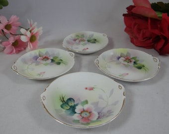 Beautiful Hand Painted Nippon Butter Pat or Salt Dish - Set of 4 - c1911 - 1920