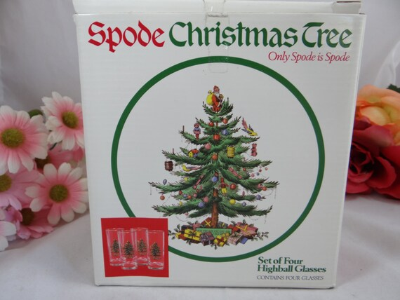 Spode Christmas Tree Set of 4 Highball Glasses by ...