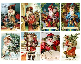 Christmas Download  Vintage Christmas Postcard Digital Download