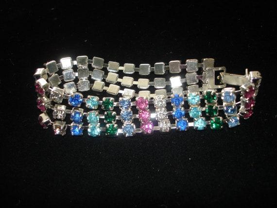 Vintage 7 inch Rhinestone Bracelet