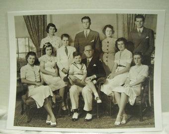 1937 Kennedy family photo, reprint