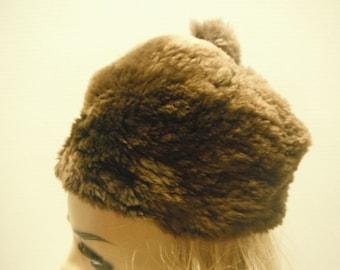 Vintage soft lambs wool hat