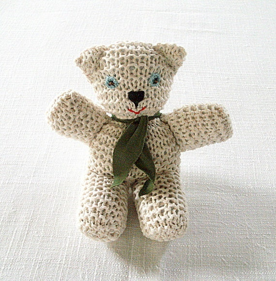 Mr. Bean Teddy Bear hand knitted soft toy