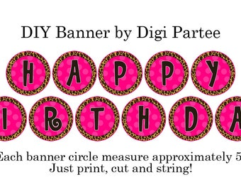 Printable Leopard Banner - DIY