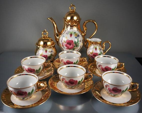 rare antique 22 kt gold over porcelain germany bavaria. Black Bedroom Furniture Sets. Home Design Ideas