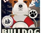 Bulldog Sailing Company Original Art Print - Personalized Dog Breed Print - 11x14