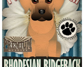 Dogs and Flowers Art Print  - Rhodesian Ridgeback Art Print 11 x 14