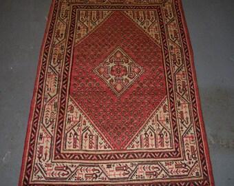 1960s Hand-Knotted Mir Sarouk Persian Rug (2494)