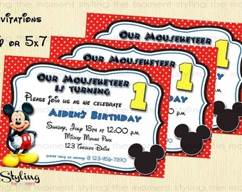Mickey Mouse Printable Invitation