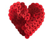 Victoria Heart Fascinator - red