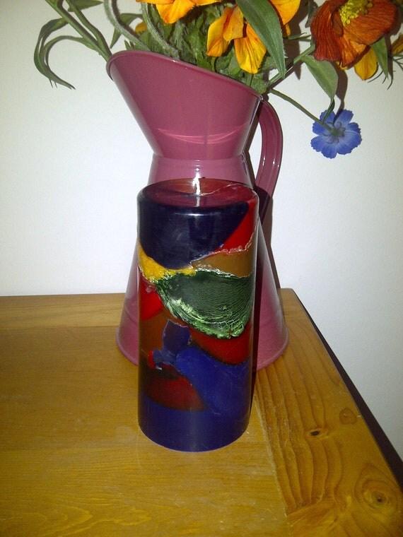 Multi Coloured Pillar candle