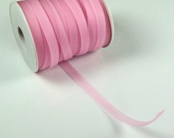 Rubber cord 8mm flat, pink luminous, 5 feet