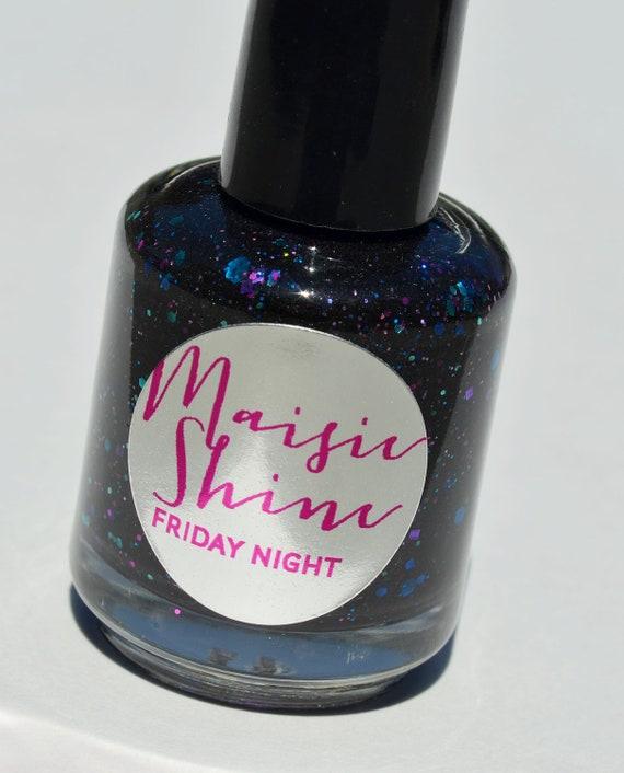 Nail Polish: Friday Night Dark Grey/Black Polish By