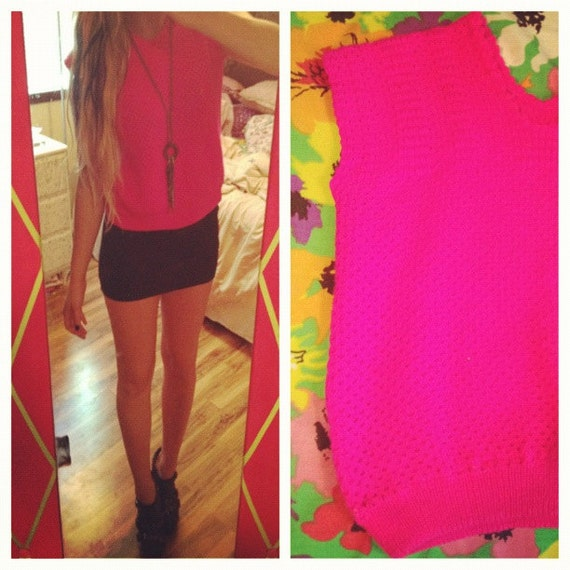 Vintage Hot Pink Sweater