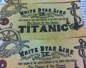 Titanic Gift Tags Mens, Boys, Nautical