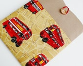Kindle 6 Voyage Paperwhite Sleeve Amazon Fire 7  Hd 8 Cover Nexus 7 Nook GlowligCase  SUPERIOR Shock Absorbent Padding   LONDON BUSES
