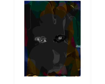 Grey Eyes - Limited Edition Pigment Print