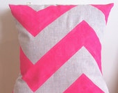 Neon Pink Fat Chevron - Insert Included - Wildly comfortably throw cushion in neon pink, for your home.