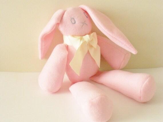 Bunny Plush, Pink Bunny, Kawaii Plush, Stuffed Bunny Rabbit, Kawaii Pink Bunny