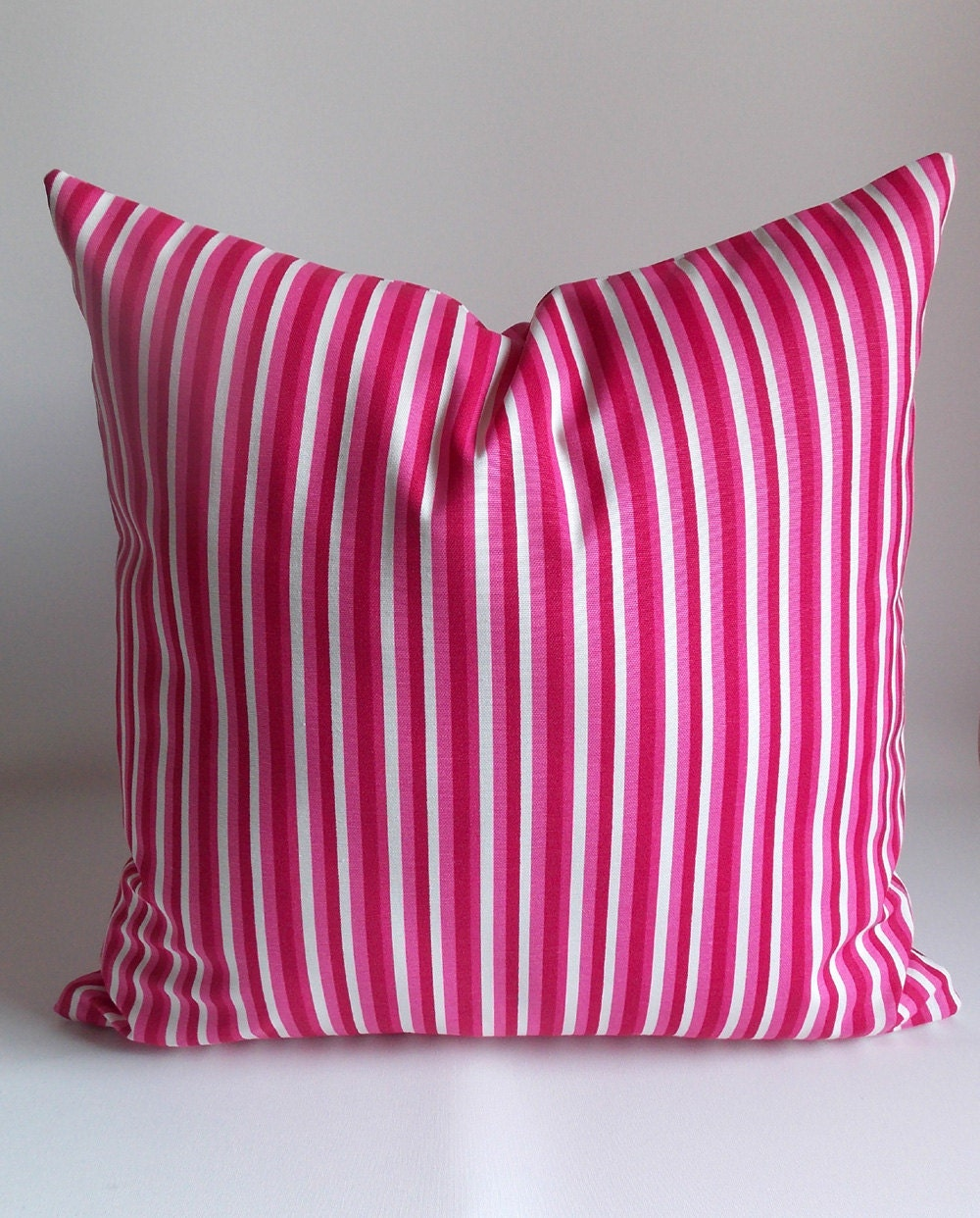 Decorative Pillow Pink : Pink Striped pillow Decorative pillow Throw pillow
