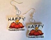 Snoopy Thanksgiving Earrings- Woodstock, Snoopy Earrings