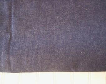 Denim fabric/Cotton denim/Jean fabric/Deep blue denim fabric/Fathers day fabric/Blue cotton fabric/Sewing supply fabric/Sewing project/Jeans