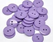 10 Round Plastic Buttons Two Hole 23mm Purple - 10 Pack PB48