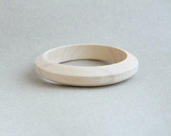 15 mm Wooden bracelet unfinished round trapezoidal shape - natural eco friendly PA15L