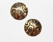 Embossed Brass Charms