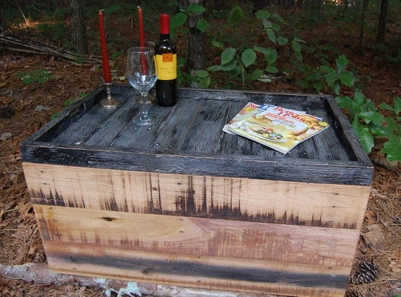 Coffee Table/ Wooden Crate/ Serving Tray/ Storage/ Reclaim Wood