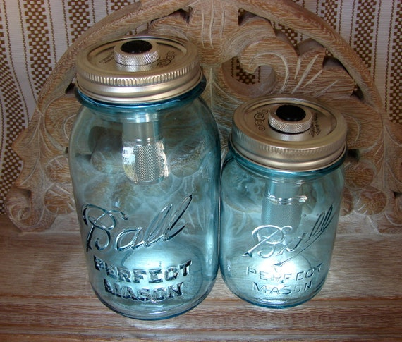 Hand Made Mason jar LED Light Lids - Two  Pieces - Fits All Standard Mason Jars