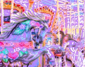 Merry-Go-Round Fine art photography-kids room decor-fantasy-carnival art-nursery decor-girls room decor-lavender pink 8x12