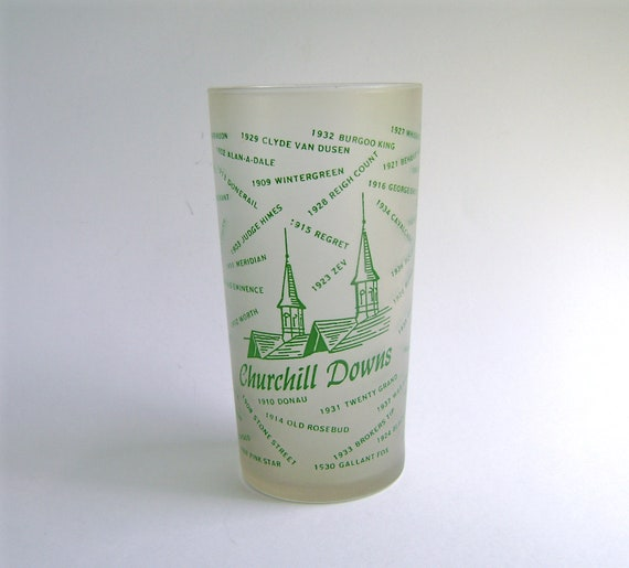 Vintage Kentucky Derby Glass, 1954 Authentic, Kentucky Derby Collectible, Churchill Downs, Commemorative Glass