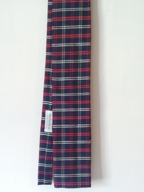 Vintage 80s Plaid Hecht Co. Necktie