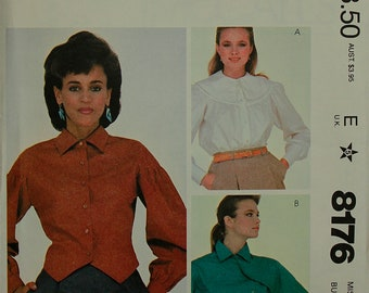 """Designer Blouse Set  by Willi Smith - 1980's - McCall's Pattern 8176  Uncut   Sizes 8  Bust 31.5"""""""