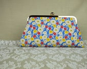 Having tea in the garden -Handmade floral pattern clutch by Alice