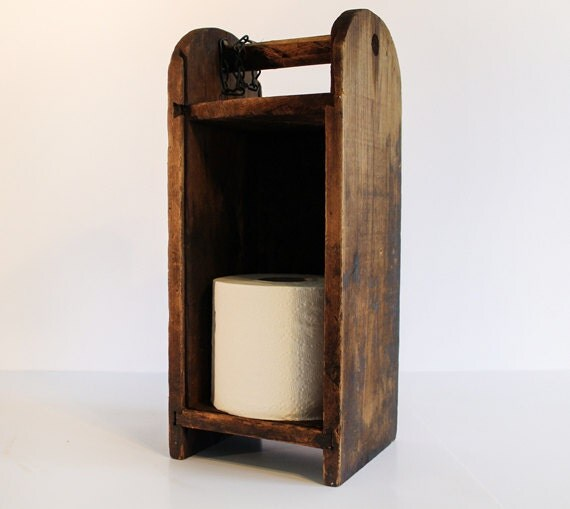 Vintage Outhouse Toilet Paper Holder
