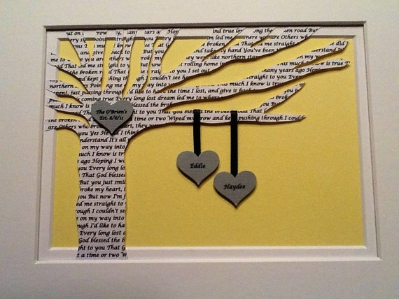 Custom listing for Julie 3 - 8x10 FRAMED Lyric trees
