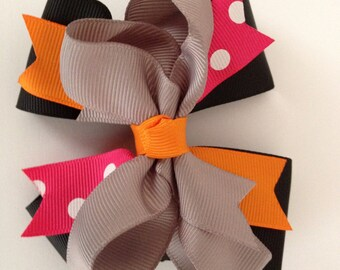 Hair bow with alligator clip and hair band