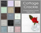 Cottage Crackle, Set of 15 Digital Paper, Photoshop Textures, Photo Overlays, Immediate Download